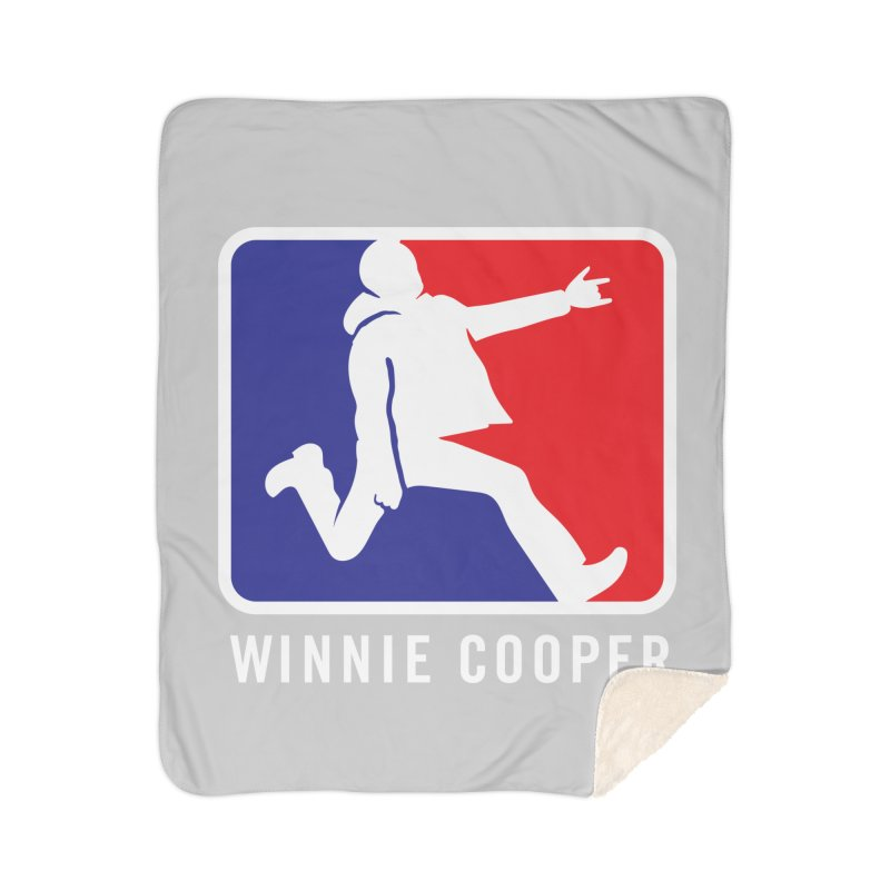Winnie Cooper Sports Logo Home Sherpa Blanket Blanket by Winnie Cooper's Artist Shop