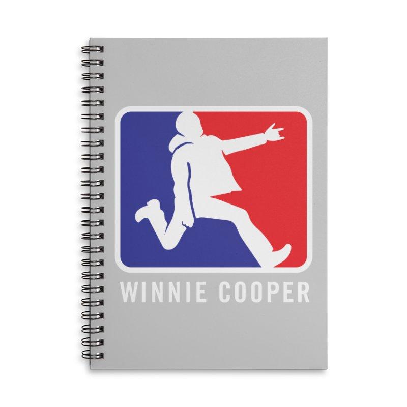 Winnie Cooper Sports Logo Accessories Lined Spiral Notebook by Winnie Cooper's Artist Shop