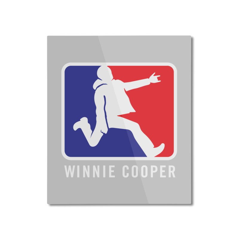 Winnie Cooper Sports Logo Home Mounted Aluminum Print by Winnie Cooper's Artist Shop