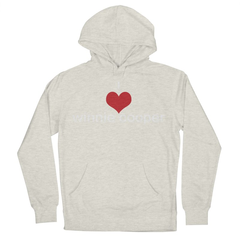 I Heart Winnie Cooper (White Text) Men's French Terry Pullover Hoody by Winnie Cooper's Artist Shop