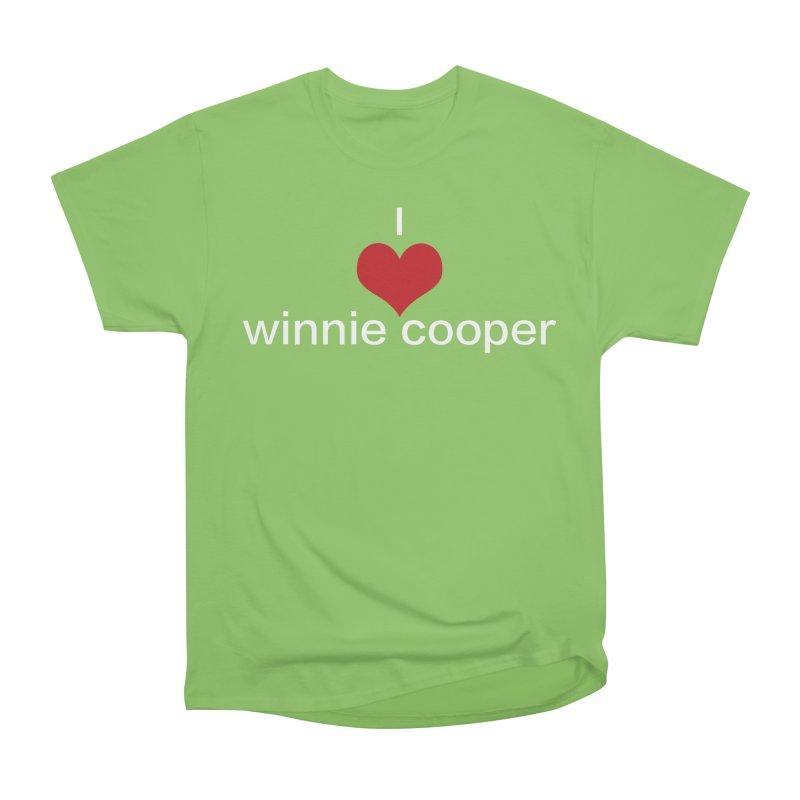 I Heart Winnie Cooper (White Text) Women's Heavyweight Unisex T-Shirt by Winnie Cooper's Artist Shop