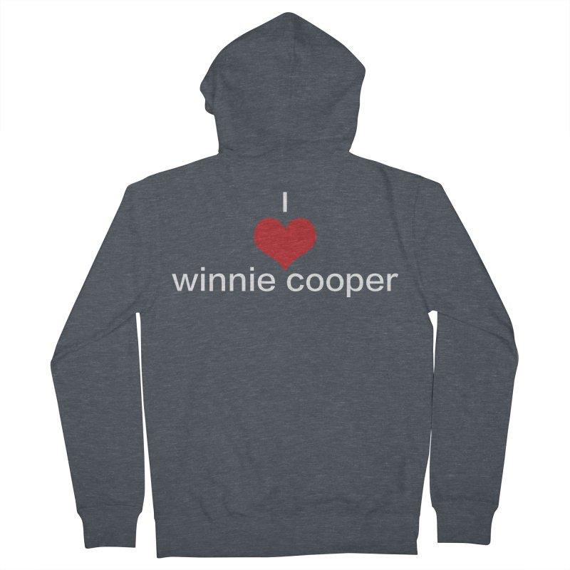 I Heart Winnie Cooper (White Text) Women's French Terry Zip-Up Hoody by Winnie Cooper's Artist Shop