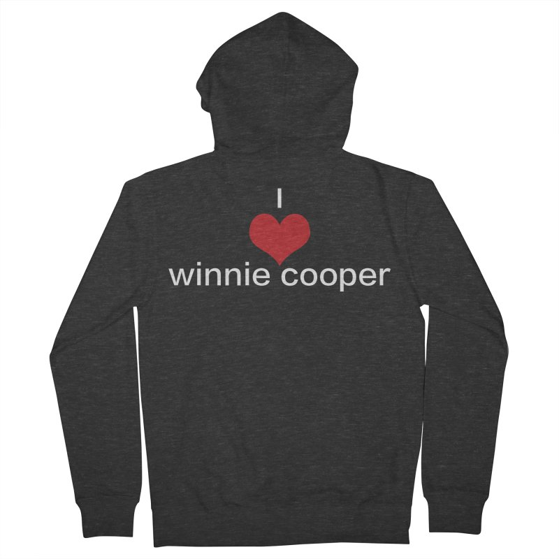 I Heart Winnie Cooper (White Text) Men's French Terry Zip-Up Hoody by Winnie Cooper's Artist Shop