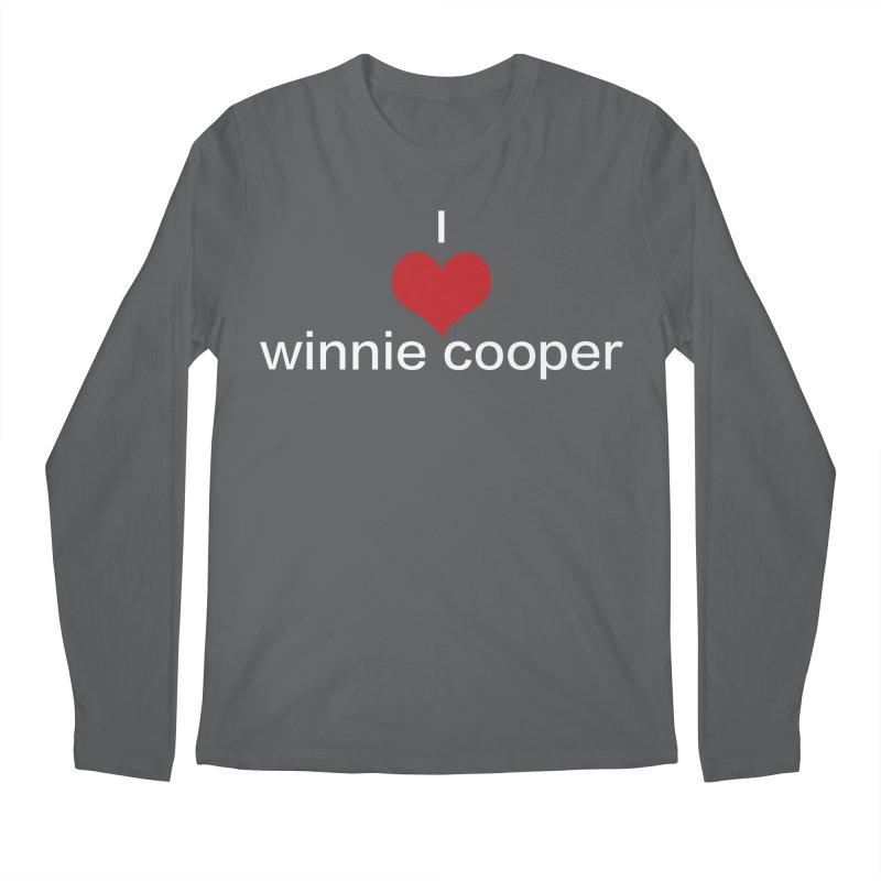 I Heart Winnie Cooper (White Text) Men's Regular Longsleeve T-Shirt by Winnie Cooper's Artist Shop