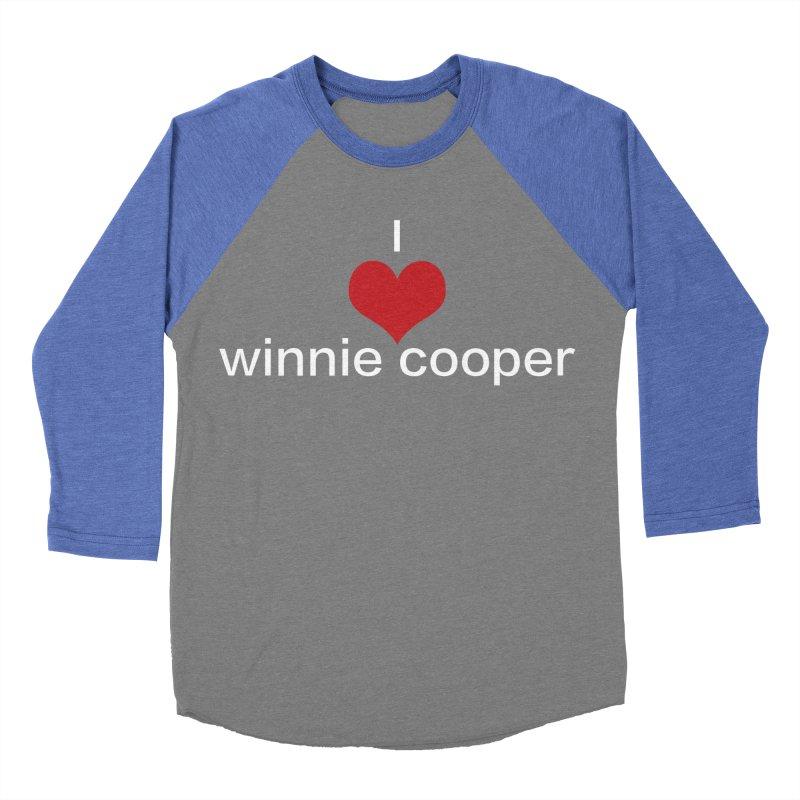 I Heart Winnie Cooper (White Text) Women's Baseball Triblend Longsleeve T-Shirt by Winnie Cooper's Artist Shop
