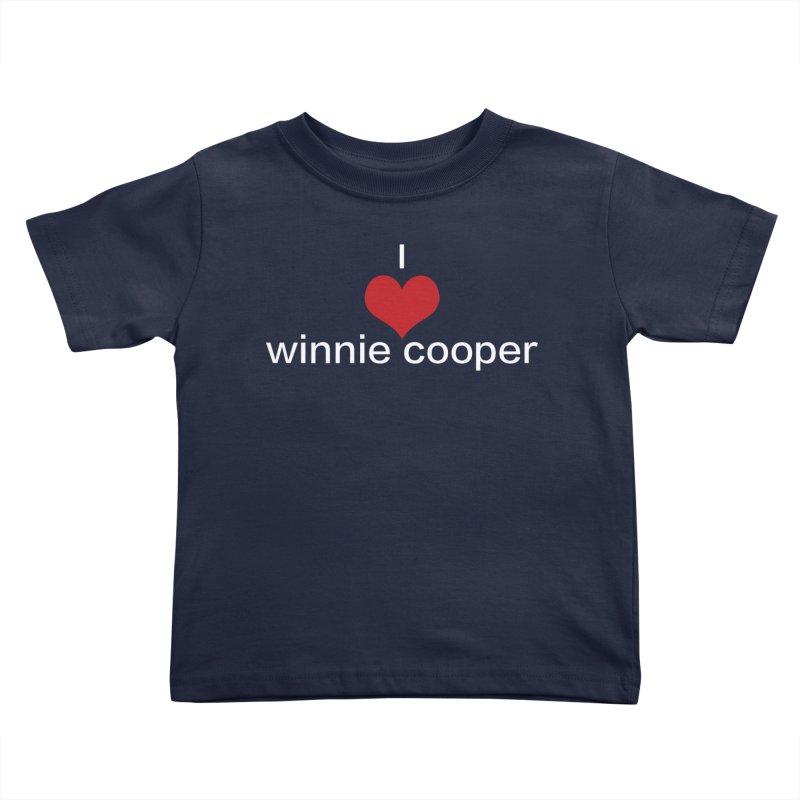 I Heart Winnie Cooper (White Text) Kids Toddler T-Shirt by Winnie Cooper's Artist Shop