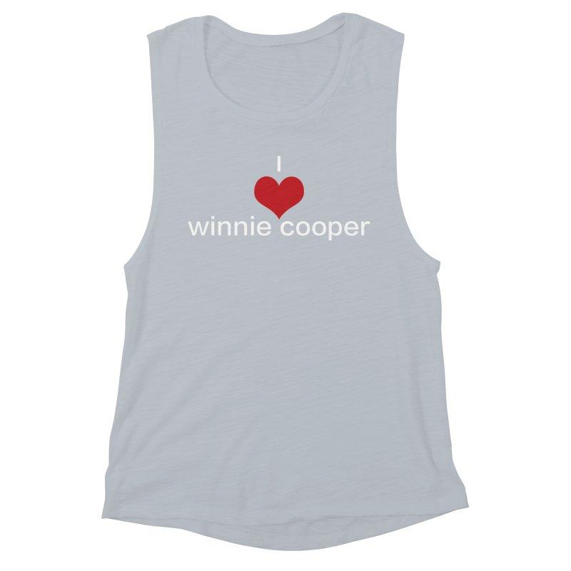 I Heart Winnie Cooper (White Text) Women's Muscle Tank by Winnie Cooper's Artist Shop
