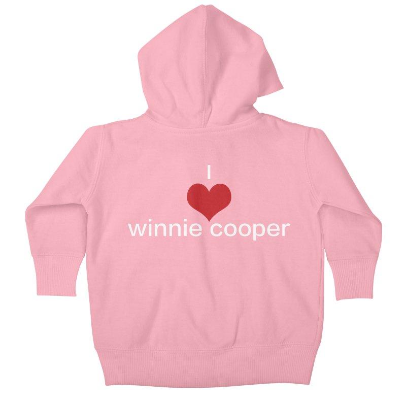 I Heart Winnie Cooper (White Text) Kids Baby Zip-Up Hoody by Winnie Cooper's Artist Shop