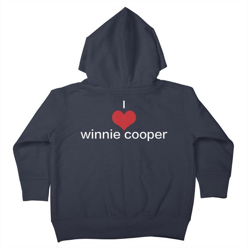 I Heart Winnie Cooper (White Text) Kids Toddler Zip-Up Hoody by Winnie Cooper's Artist Shop