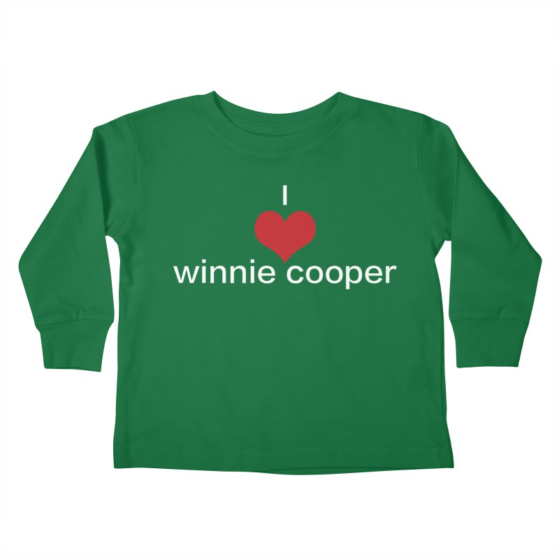 I Heart Winnie Cooper (White Text) Kids Toddler Longsleeve T-Shirt by Winnie Cooper's Artist Shop