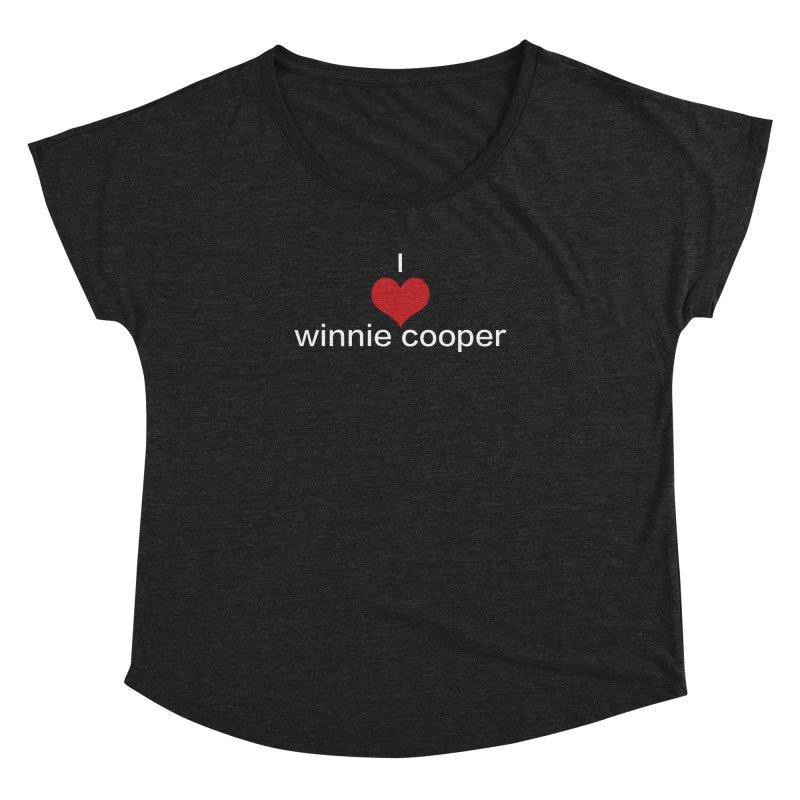 I Heart Winnie Cooper (White Text) Women's Dolman Scoop Neck by Winnie Cooper's Artist Shop