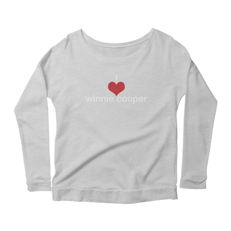 I Heart Winnie Cooper (White Text) Women's Scoop Neck Longsleeve T-Shirt by Winnie Cooper's Artist Shop