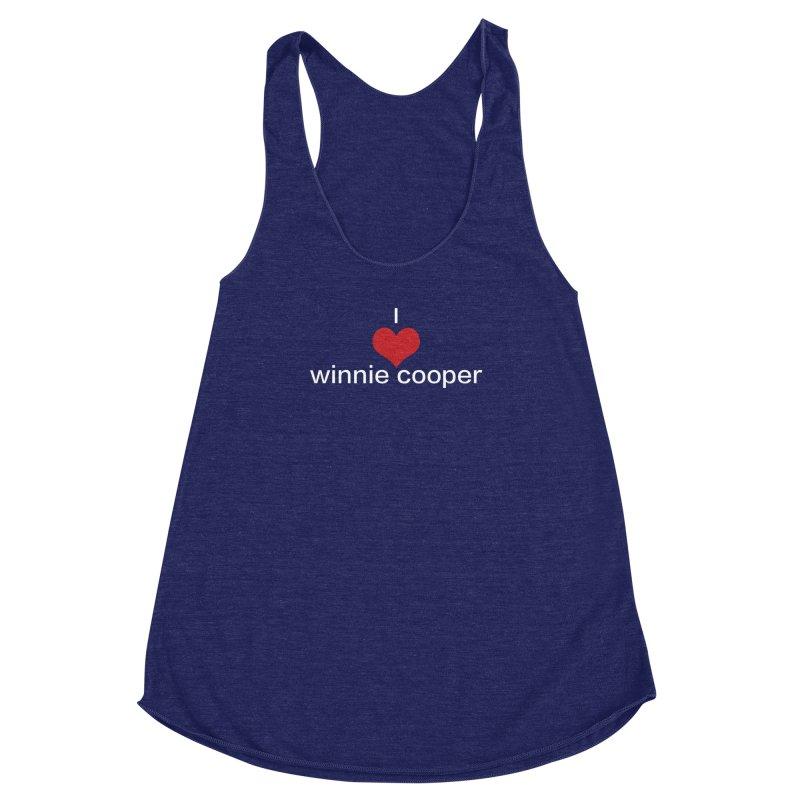I Heart Winnie Cooper (White Text) Women's Racerback Triblend Tank by Winnie Cooper's Artist Shop