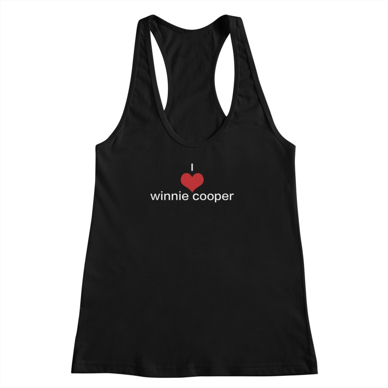 I Heart Winnie Cooper (White Text) Women's Racerback Tank by Winnie Cooper's Artist Shop