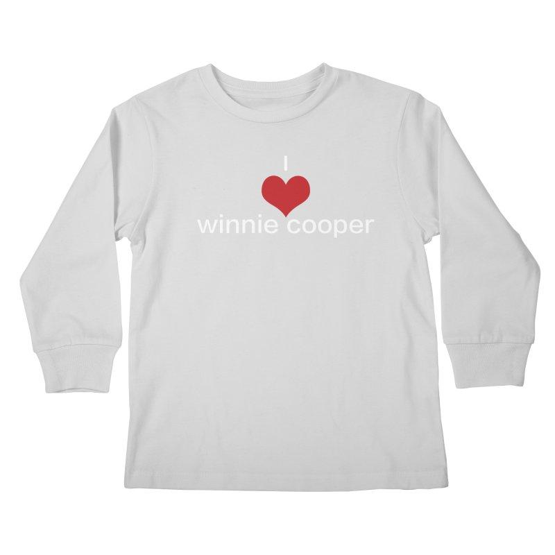 I Heart Winnie Cooper (White Text) Kids Longsleeve T-Shirt by Winnie Cooper's Artist Shop