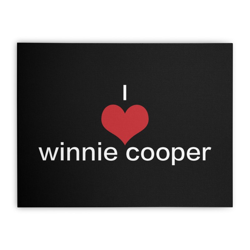 I Heart Winnie Cooper (White Text) Home Stretched Canvas by Winnie Cooper's Artist Shop