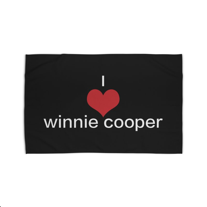 I Heart Winnie Cooper (White Text) Home Rug by Winnie Cooper's Artist Shop