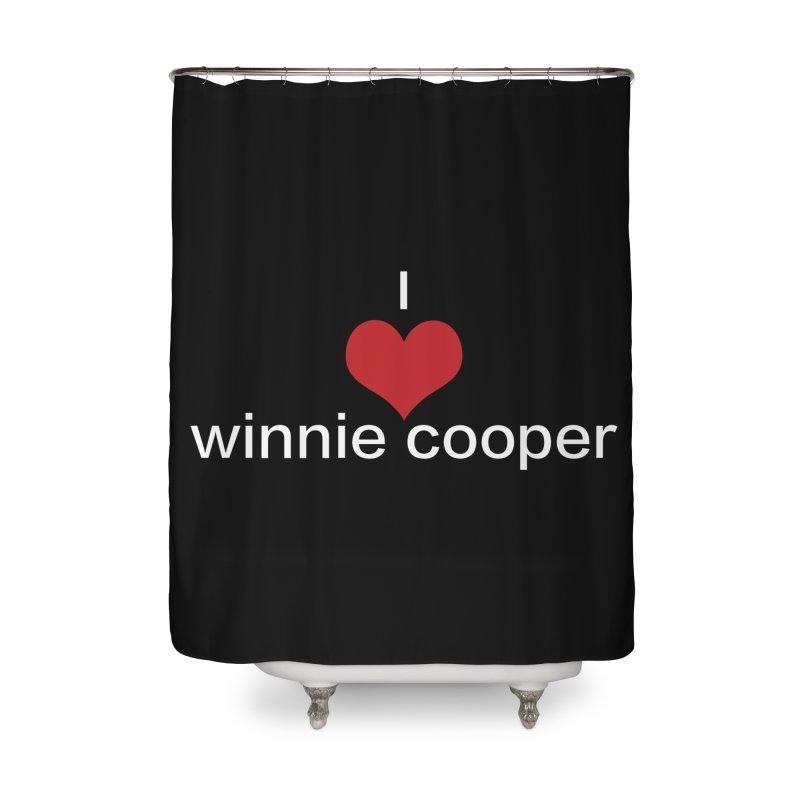 I Heart Winnie Cooper (White Text) Home Shower Curtain by Winnie Cooper's Artist Shop