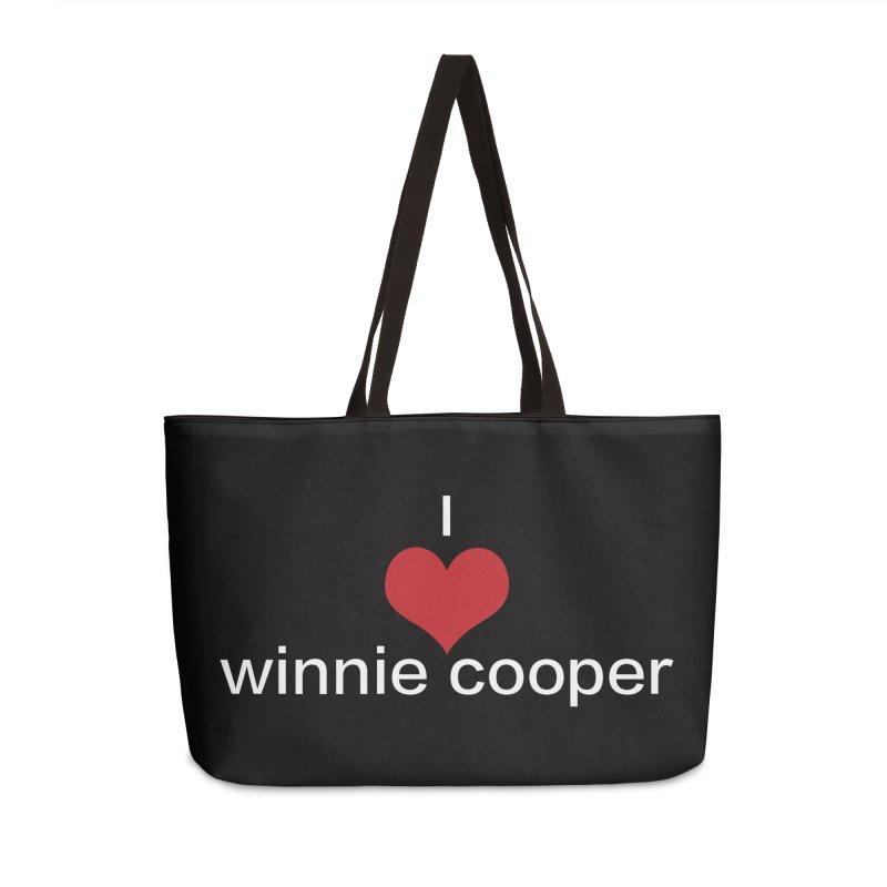 I Heart Winnie Cooper (White Text) Accessories Weekender Bag Bag by Winnie Cooper's Artist Shop