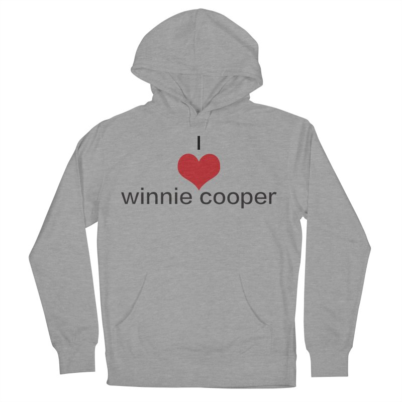 I Heart Winnie Cooper (Black Text) Women's French Terry Pullover Hoody by Winnie Cooper's Artist Shop