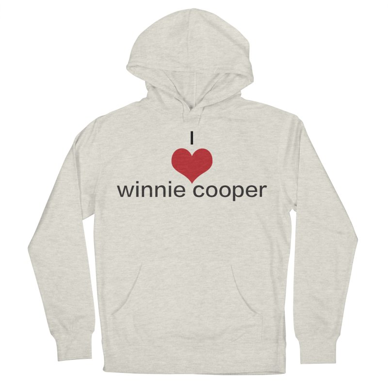 I Heart Winnie Cooper (Black Text) Men's French Terry Pullover Hoody by Winnie Cooper's Artist Shop