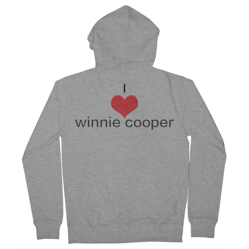 I Heart Winnie Cooper (Black Text) Women's French Terry Zip-Up Hoody by Winnie Cooper's Artist Shop