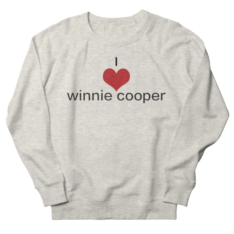 I Heart Winnie Cooper (Black Text) Women's French Terry Sweatshirt by Winnie Cooper's Artist Shop