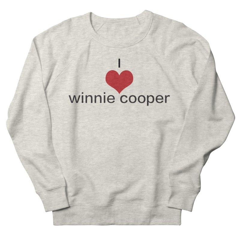 I Heart Winnie Cooper (Black Text) Men's French Terry Sweatshirt by Winnie Cooper's Artist Shop
