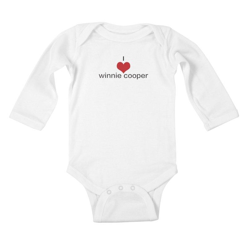 I Heart Winnie Cooper (Black Text) Kids Baby Longsleeve Bodysuit by Winnie Cooper's Artist Shop