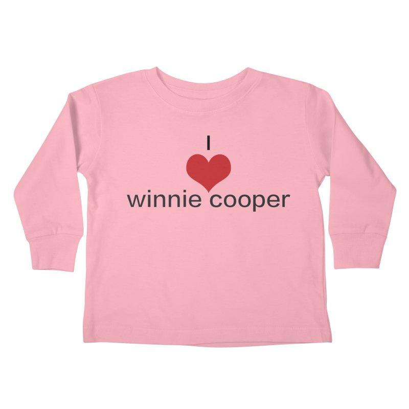 I Heart Winnie Cooper (Black Text) Kids Toddler Longsleeve T-Shirt by Winnie Cooper's Artist Shop