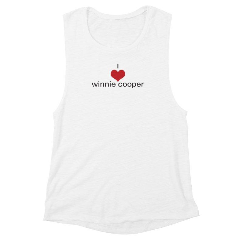 I Heart Winnie Cooper (Black Text) Women's Muscle Tank by Winnie Cooper's Artist Shop