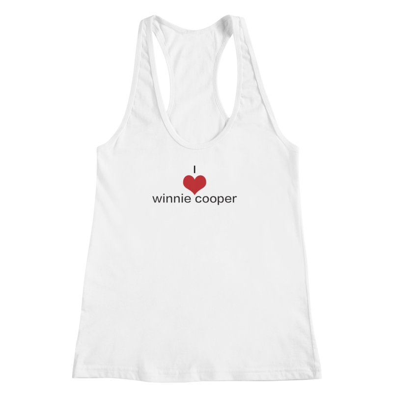 I Heart Winnie Cooper (Black Text) Women's Racerback Tank by Winnie Cooper's Artist Shop