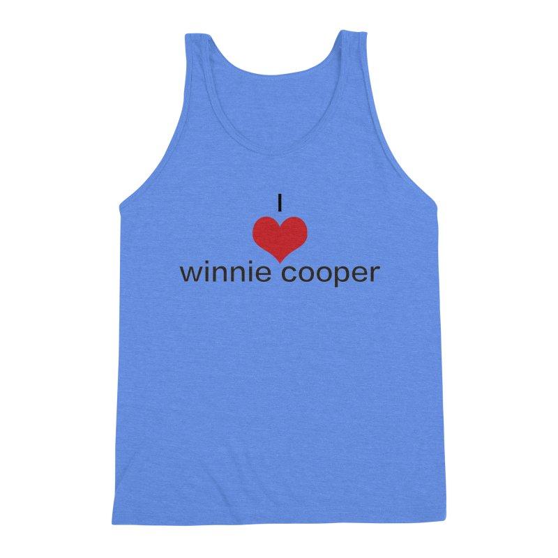 I Heart Winnie Cooper (Black Text) Men's Triblend Tank by Winnie Cooper's Artist Shop