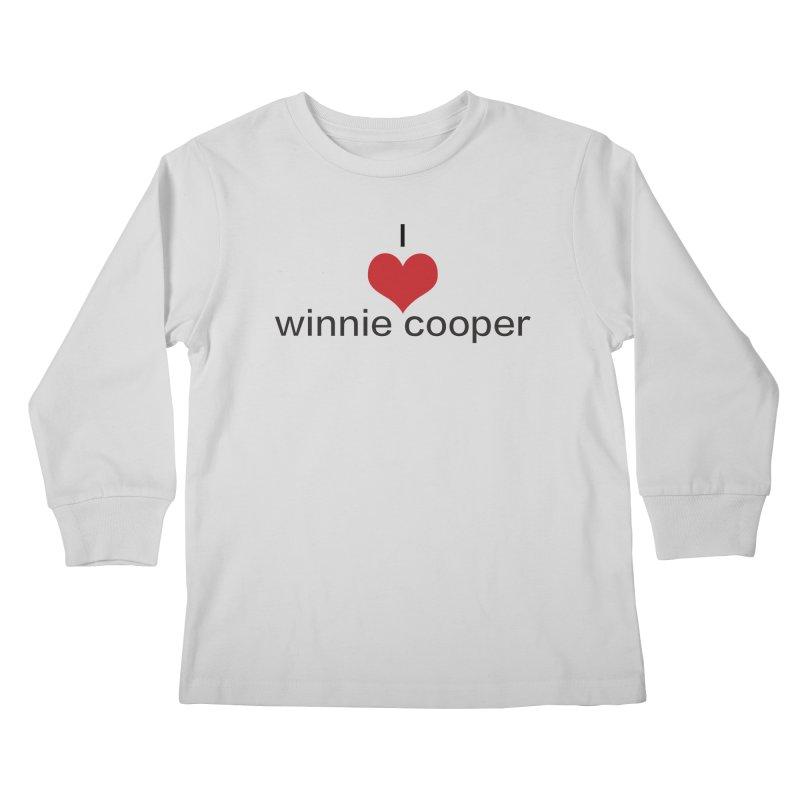 I Heart Winnie Cooper (Black Text) Kids Longsleeve T-Shirt by Winnie Cooper's Artist Shop