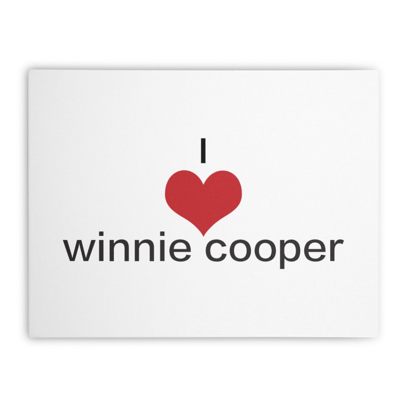 I Heart Winnie Cooper (Black Text) Home Stretched Canvas by Winnie Cooper's Artist Shop