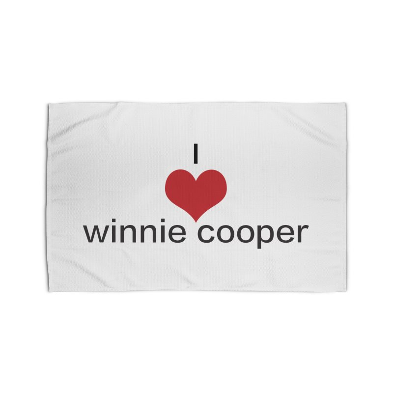I Heart Winnie Cooper (Black Text) Home Rug by Winnie Cooper's Artist Shop