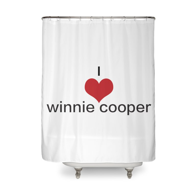 I Heart Winnie Cooper (Black Text) Home Shower Curtain by Winnie Cooper's Artist Shop