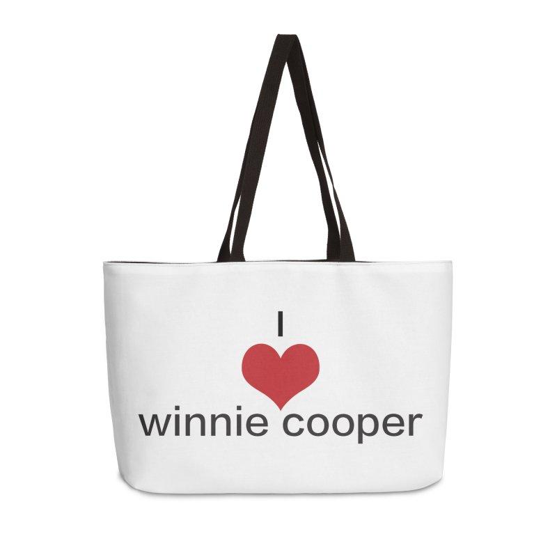 I Heart Winnie Cooper (Black Text) Accessories Weekender Bag Bag by Winnie Cooper's Artist Shop