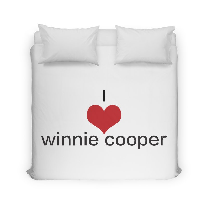 I Heart Winnie Cooper (Black Text) Home Duvet by Winnie Cooper's Artist Shop