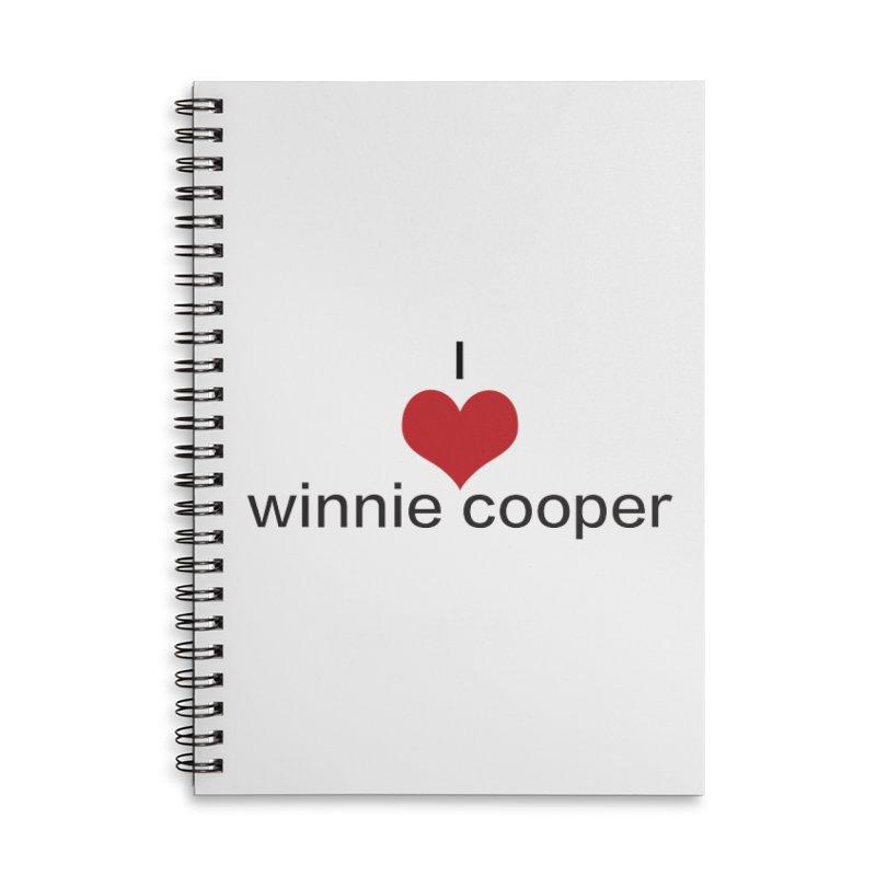 I Heart Winnie Cooper (Black Text) Accessories Lined Spiral Notebook by Winnie Cooper's Artist Shop
