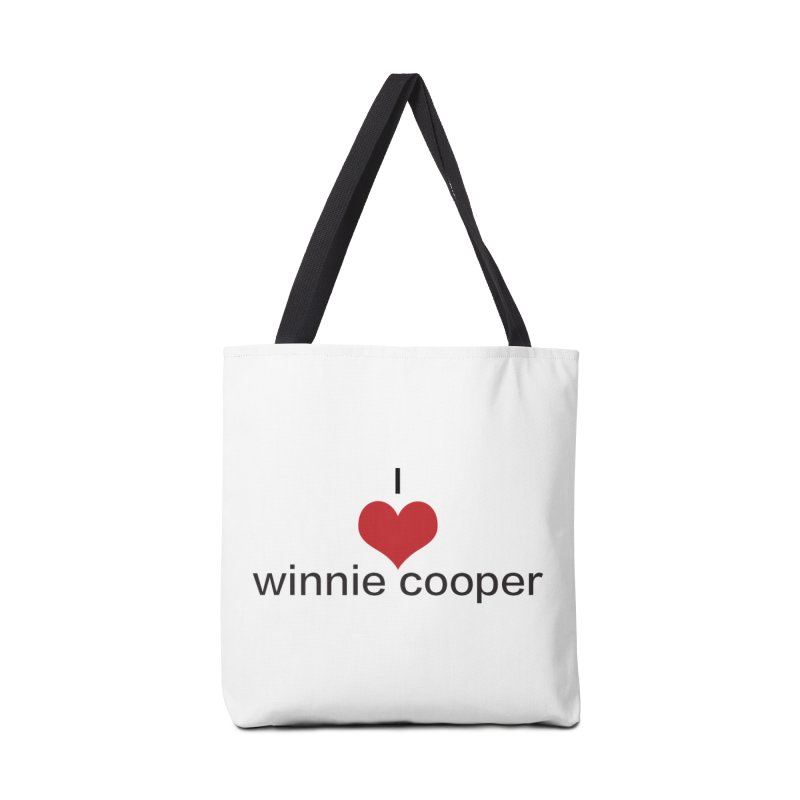 I Heart Winnie Cooper (Black Text) Accessories Tote Bag Bag by Winnie Cooper's Artist Shop