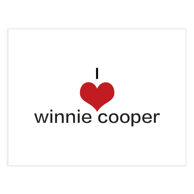 I Heart Winnie Cooper (Black Text) Home Fine Art Print by Winnie Cooper's Artist Shop