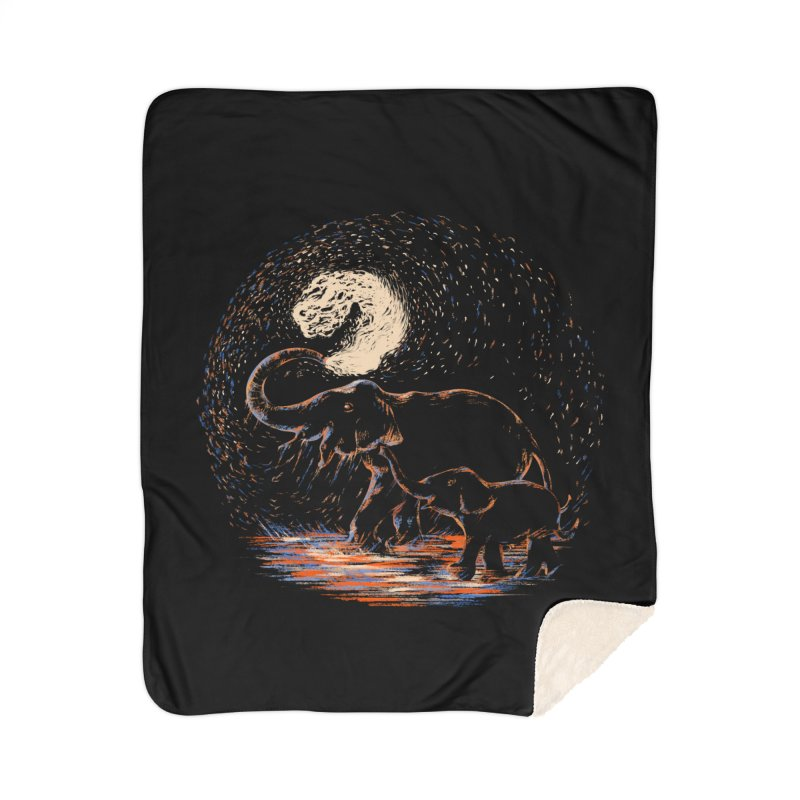 MIDNIGHT FUN Home Sherpa Blanket Blanket by Winterglaze's Artist Shop
