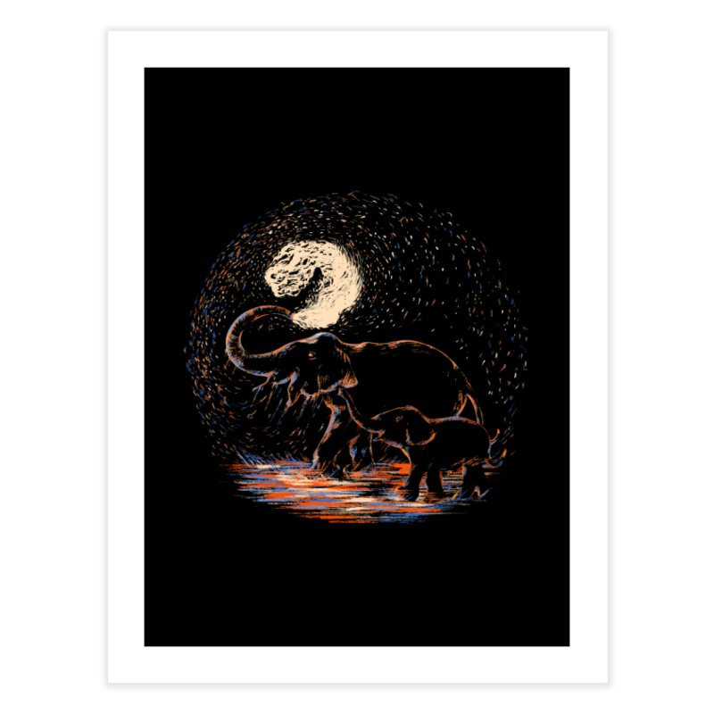 MIDNIGHT FUN Home Fine Art Print by Winterglaze's Artist Shop