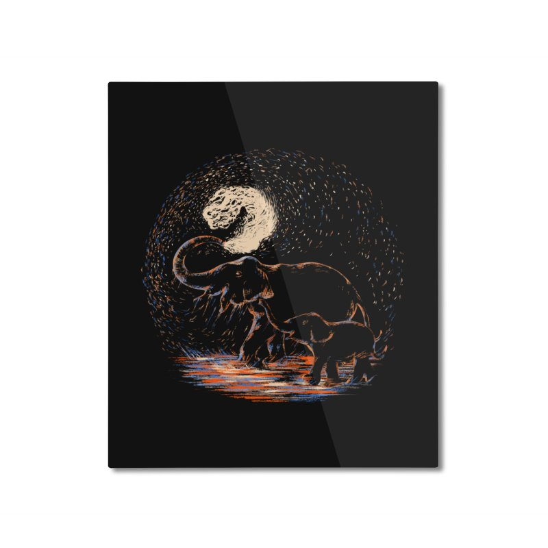 MIDNIGHT FUN Home Mounted Aluminum Print by Winterglaze's Artist Shop