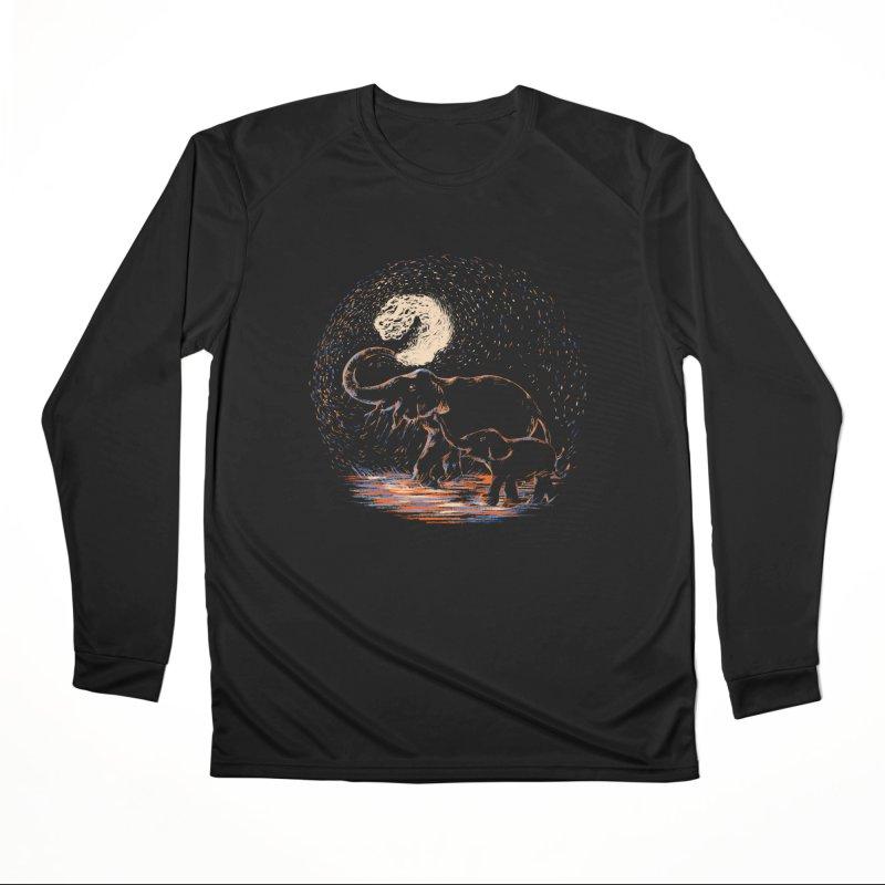 MIDNIGHT FUN Men's Performance Longsleeve T-Shirt by Winterglaze's Artist Shop