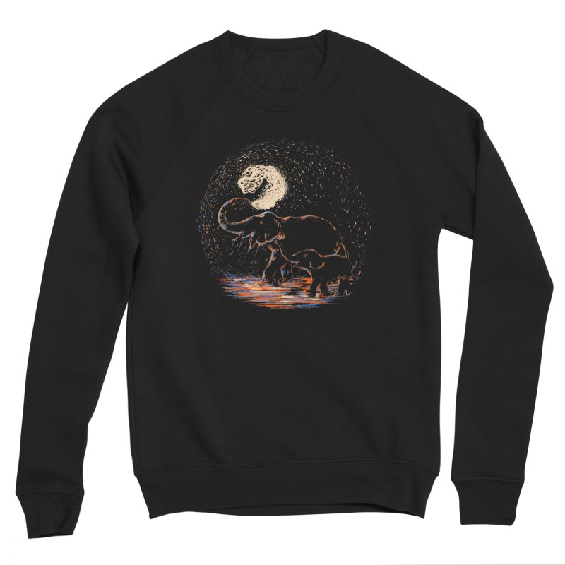 MIDNIGHT FUN Women's Sponge Fleece Sweatshirt by Winterglaze's Artist Shop