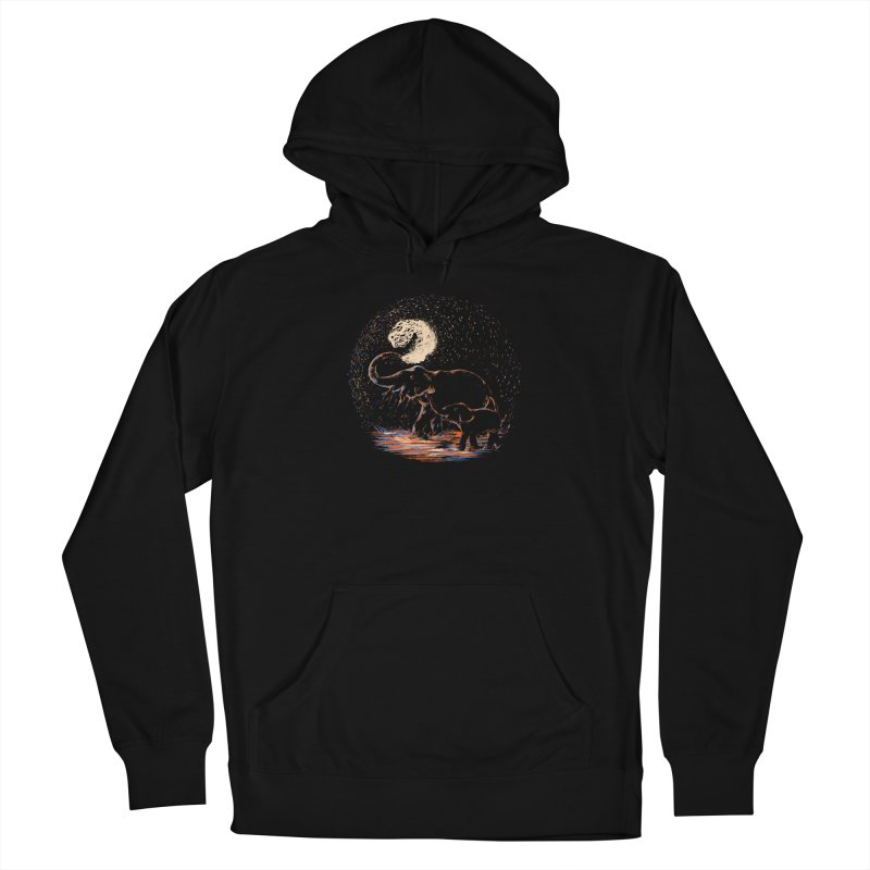 MIDNIGHT FUN Men's French Terry Pullover Hoody by Winterglaze's Artist Shop