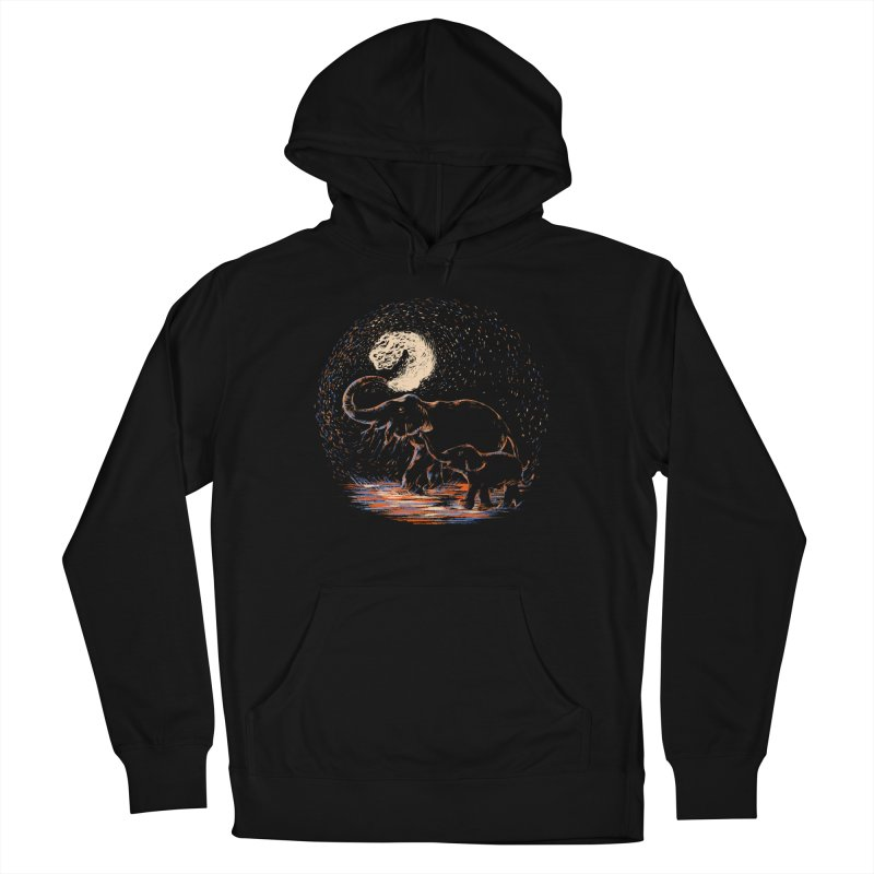MIDNIGHT FUN Women's French Terry Pullover Hoody by Winterglaze's Artist Shop
