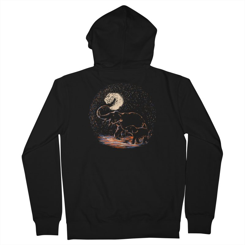 MIDNIGHT FUN Women's French Terry Zip-Up Hoody by Winterglaze's Artist Shop